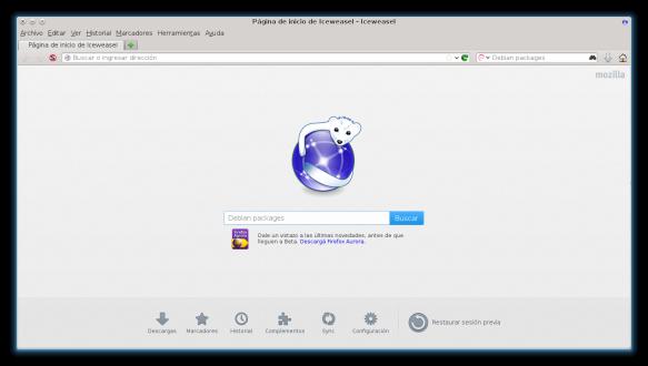 GNU Iceweasel con el aspecto de las aplicaciones de KDE. Imagen por Mozilla et al. / MPL 2.0
